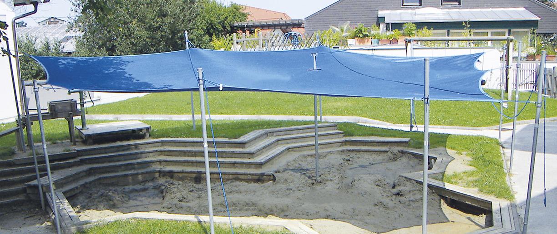 Sandy Sandkasten Sonnensegel und Verdeck